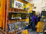 Tad's Locker Room was full of customers Monday morning who wanted Shocker merchandise, following Wichita State's victory in the Missouri Valley Conference tournament.