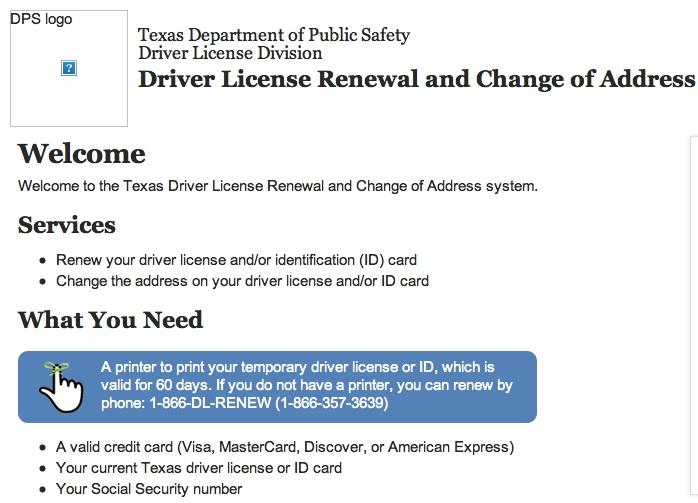 More drivers are logging onto Texas.gov to renew their driver's licenses online.