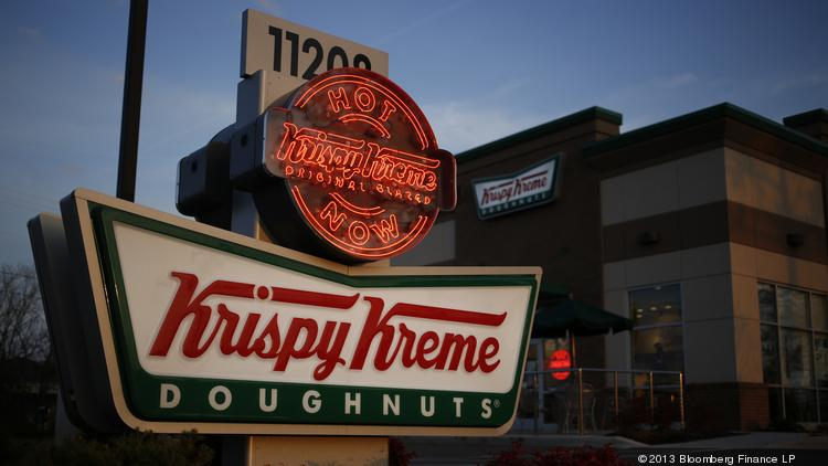 Krispy Kreme operated 855 company and franchise shops worldwide by the end of its fiscal first quarter.