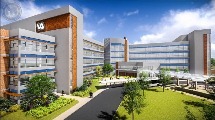 The U.S. Department of Veterans Affairs broke ground on its 295,000-square-foot outpatient health-care center in Charlotte on Friday.
