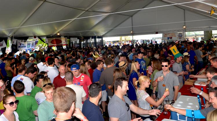 Thousands of beer drinkers enjoyed festivities at last year's annual All About Beer magazine's World Beer Festival in downtown Raleigh.