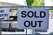 """Sold Out"" signs were posted early at the World Beer Festival."