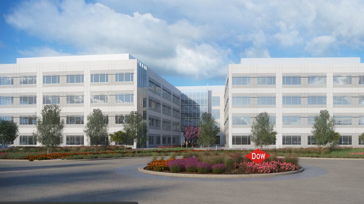 Dow Chemical Co.'s Texas Innovation Center in Lake Jackson will house more than 2,000 employees in five buildings.