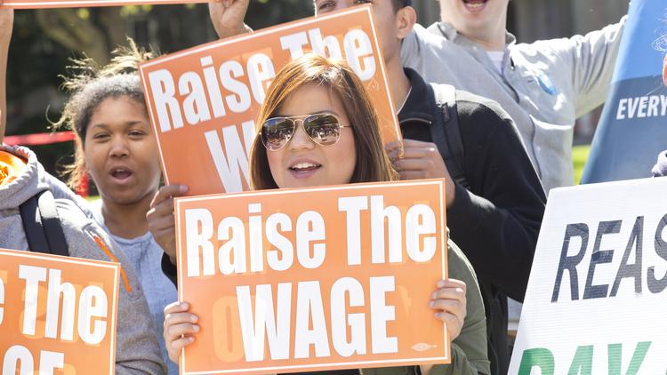 Raising the minimum wage has overwhelming public support -- until Americans are told it would cost jobs, a new Bloomberg poll finds.