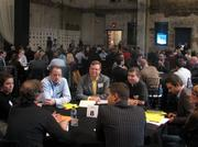 Dozens of entrepreneurs met in mentoring sessions with successful Twin Cities business owners and investors Tuesday night at Aria in Minneapolis as part of Entrepreneurs' Organization Minnesota Chapter's Entrepreneurs Rally.