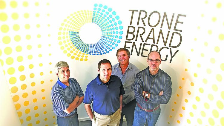 Trone Brand Energy has been named agency of record of Ingersoll Rand's power tool line. Pictured here are partners Kevin Murphy, Rick Morgan, Doug Barton and Martin Buchanan.