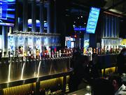 About half of Yard House's 140 tap beer choices are shown here.