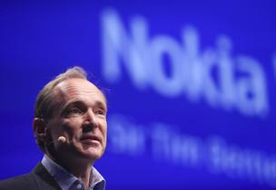 World Wide Web inventor Tim Berners-Lee speaks at the Nokia World event in London, U.K., on Wednesday, Sept. 15, 2010.