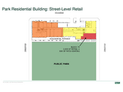 The plans also include 2,000 square feet of park-facing retail on the ground floor of a residential building. That could either be filled by a small restaurant or niche retailers.