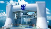 A first for high seas cruising, the Quantum of the Seas will include a controlled skydiving experience aboard the top deck of the ship.