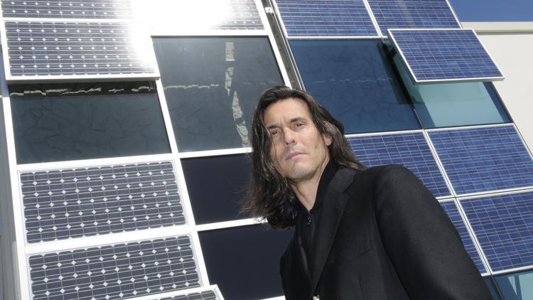 Nick Bagatelos sees growth in his business creating photovoltaic curtain walls for buildings.