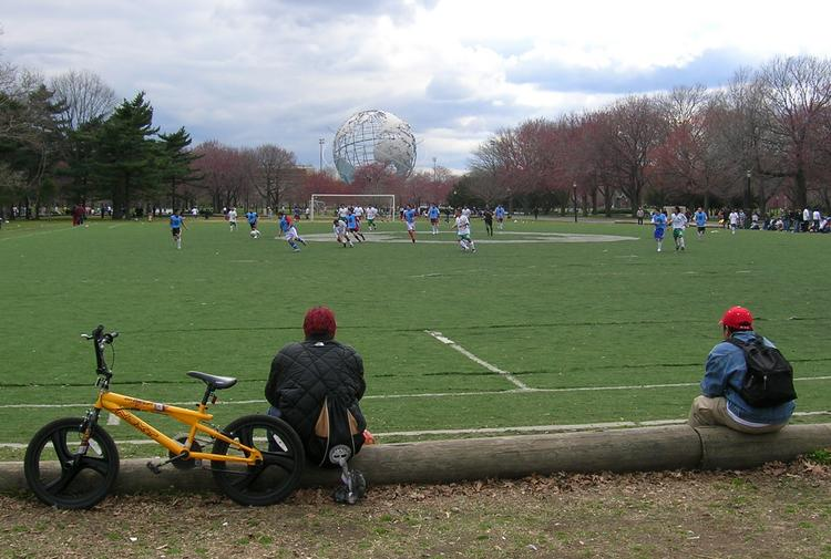 This is the level of soccer currently played at Flushing Meadows. MLS aims to place a stadium for its newest team there.