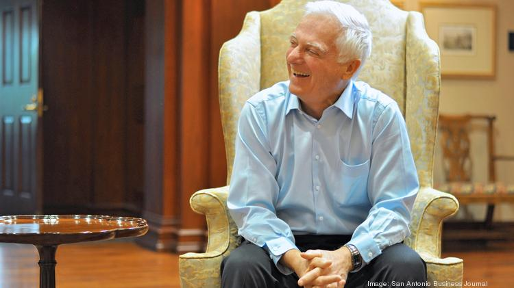 Valero CEO Bill Klesse laughs during an interview at the company's San Antonio corporate offices.