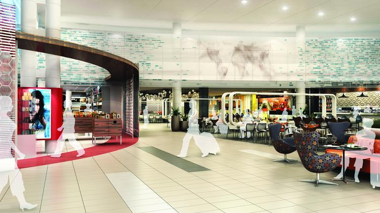 A Rendering Of The New Duty Free Ping And Dining E At O Hare Airport S