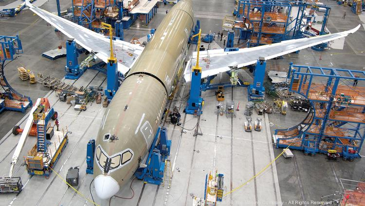 Boeing (NYSE:BA) manufactures its 787 Dreamliner aircraft at a sprawling facility in North Charleston, S.C.