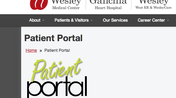 Wesley hospitals' Patient Portal gives patients access to ...