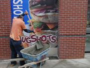 Work is underway on a Mugshots Grill at Uptown.
