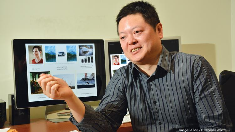 Siwei Lyu, a computer science professor at the University at Albany, has developed technology that has been used to detect forged photos.