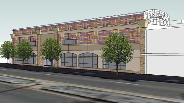 A rendering of the planned Afrikmall at 10180 E. Colfax Ave., Aurora.