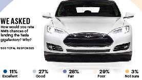Opinion was pretty divided on New Mexico's chances of landing the new Tesla factory.