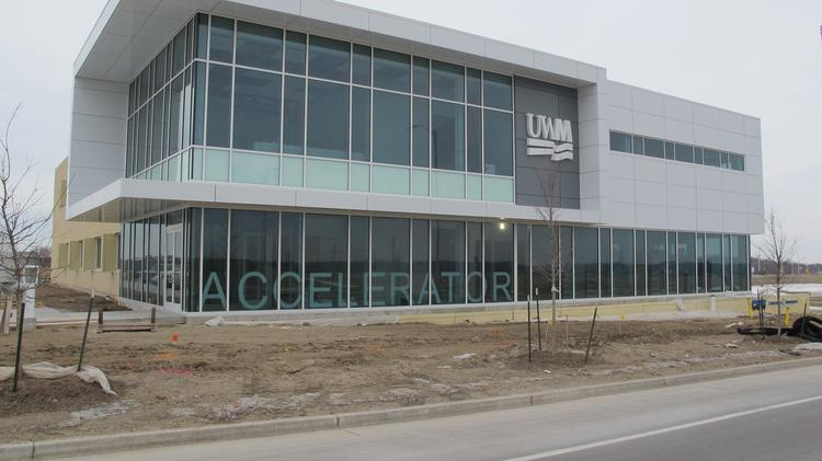 The Accelerator building at the University of Wisconsin-Milwaukee Innovation Campus in Wauwatosa