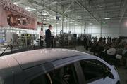 Gov. Martin O'Malley speaks during a GM event celebrating the first electric motor manufactured at their Baltimore plant. The motor is the first electric motor built in the U.S. and will be used in the Chevy Spark EV.