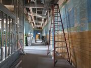101 Ellwood's hallways used to be filled with children. The old Highlandtown Middle School, shown under construction in July, is now luxury apartments.
