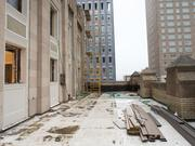 The outdoor patio of 301 N. Charles St. during construction.