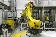 The robots used in the manufacturing of the Chevy Spark EV electric motor at GM's Baltimore facility.