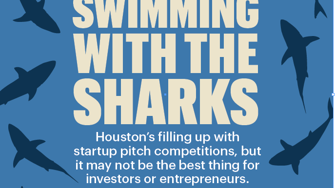 "The hit ABC TV show ""Shark Tank"" has inspired technology groups to host Shark Tank-like pitch competitions. In Houston, business pitch events like these take place at least once a month."