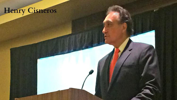 Former Mayor Henry Cisneros gives the keynote speech at the San Antonio Business Journal Legacy Leader event. 2014