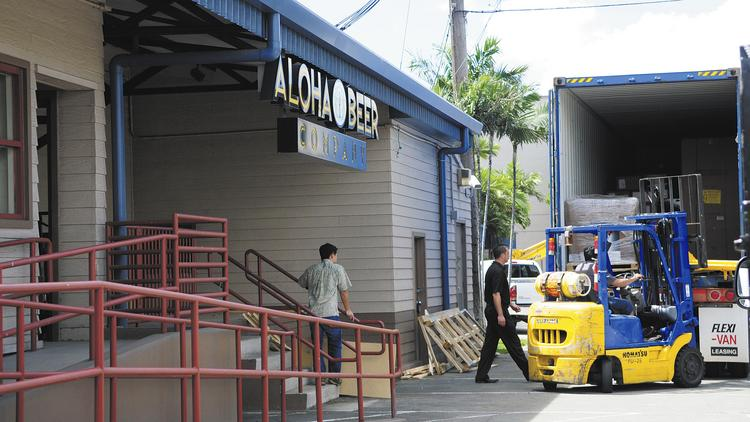The former Aloha Beer Co. on Nimitz Highway is preparing to open next month as the Hoku Brewing Co., with a manapua shop inside.