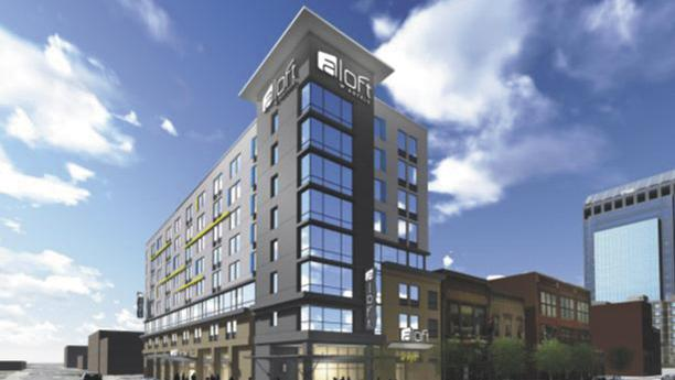 The Aloft hotel in downtown Louisville is expected to open in 12 to 14 months.