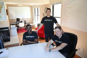 Cofounders Emmanuel Iroko, Kaleb Bryan and Brandt Barham  developed Spotagory, a social media mobile app, out of their startup house in Coppell.