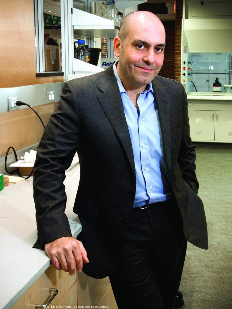 Chris Garabedian, president and CEO of Sarepta Pharmaceuticals in their new Cambridge lab space.