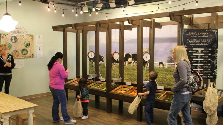 Here's what the new Children's Museum of Denver's My Market exhibit looks like.