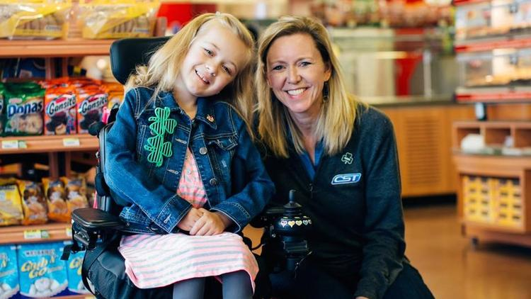 MDA ambassador Reagan Imhoff (left) meets with CST Brands CEO Kim Bowers.