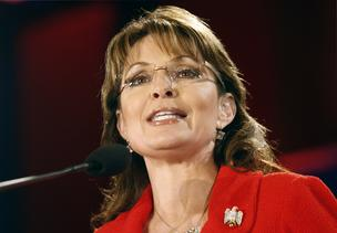 Sarah Palin, former governor of Alaska and 2008 vice-presidential candidate, speaks at the Southern Republican Leadership Conference in New Orleans, Louisiana, on Friday, April 9, 2010.