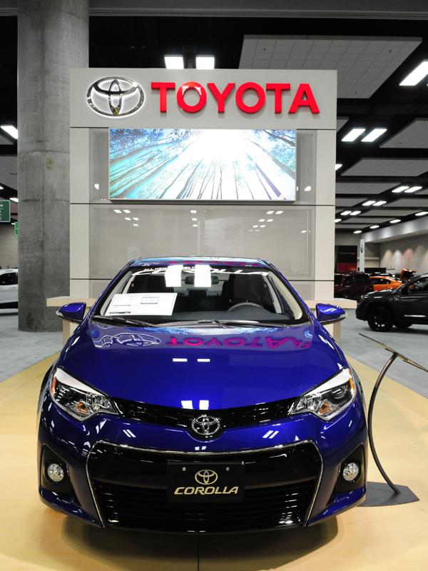 A 2014 Toyota Corolla S Plus CVT is seen in this file photo from the First Hawaiian Bank International Auto Show at the Hawaii Convention Center. The Corolla was the best-selling model in Hawaii during the first quarter, according to a report from the Hawaii Automobile Dealers Association.