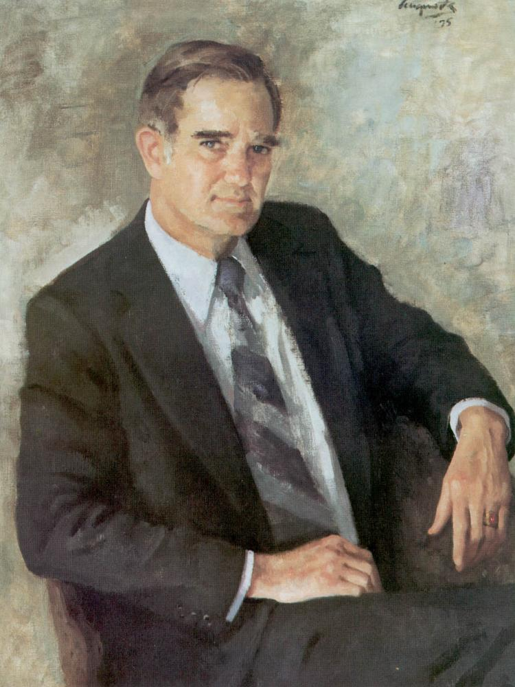 """A painting of """"Bo"""" Callaway"""