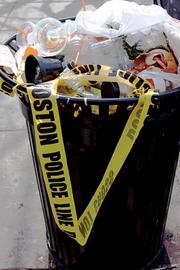 As the crime scene surrounding the Boston Marathon route is reduced more police line tape will be disposed of.