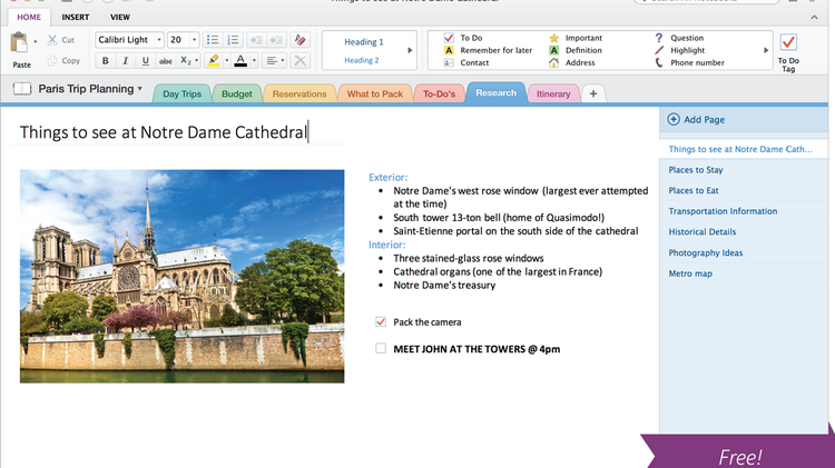 Microsoft's new OneNote app is available for free for Apple and Windows users.
