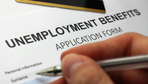 The state unemployment rate was down for the eighth month in a row in February.