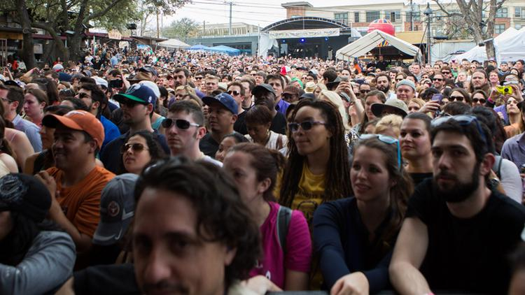 Stubbs was near capacity during Rachel Ray's Feedback event at SXSW 2014.