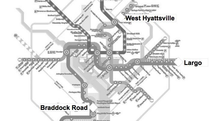 Metro has selected four stations to be the subject of 2014 redevelopment RFPs: Forest Glen in Montgomery County, West Hyattsville and Largo Town Center in Prince George's County, and Braddock Road in the City of Alexandria.