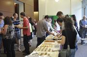 The #RTP180 crowd enjoys the food.