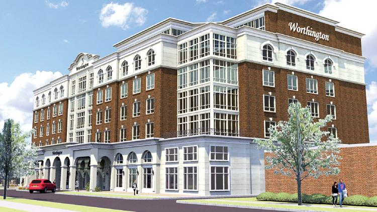A 130-room hotel has been proposed for a 1.2-acre site at the corner of East Worthington and Cleveland avenues on the edge of Dilworth.
