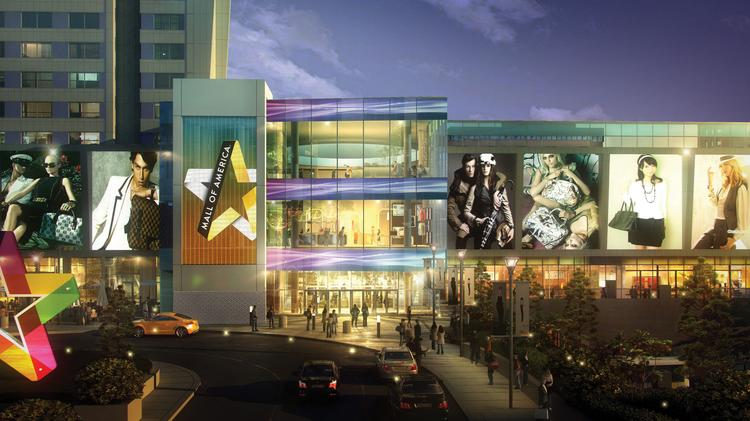A rendering of the Mall of America expansion entrance. (Provided by DLR Group)
