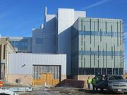 Construction continues at UWM's new School of Freshwater Sciences building.