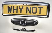 """A 1957 Rolls-Royce Silver Cloud in the British Motor Coach fleet still has its British vanity plate """"Why Not."""""""